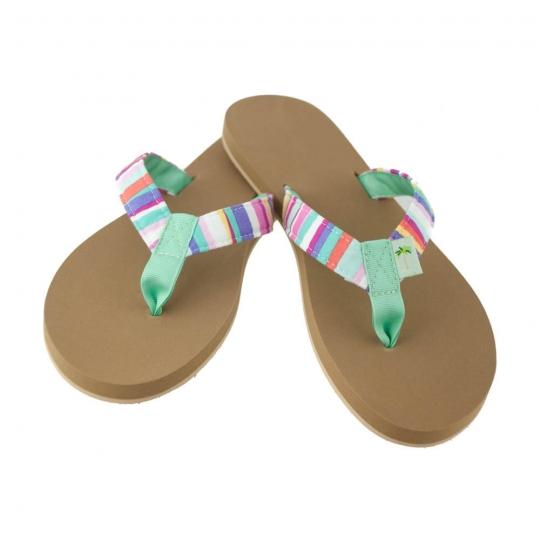 066ceb863760 Carnival Mini Fabric Sandal with Lucite No Peanut Toe on Almond Drifter Sole   Eliza B   Leather Man Ltd