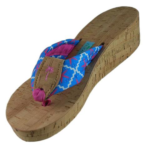 00a3d5a99 Fabric Cork Wedge  Eliza B   Leather Man Ltd
