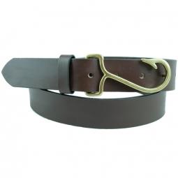Leather belts eliza b leather man ltd for Fish hook belt