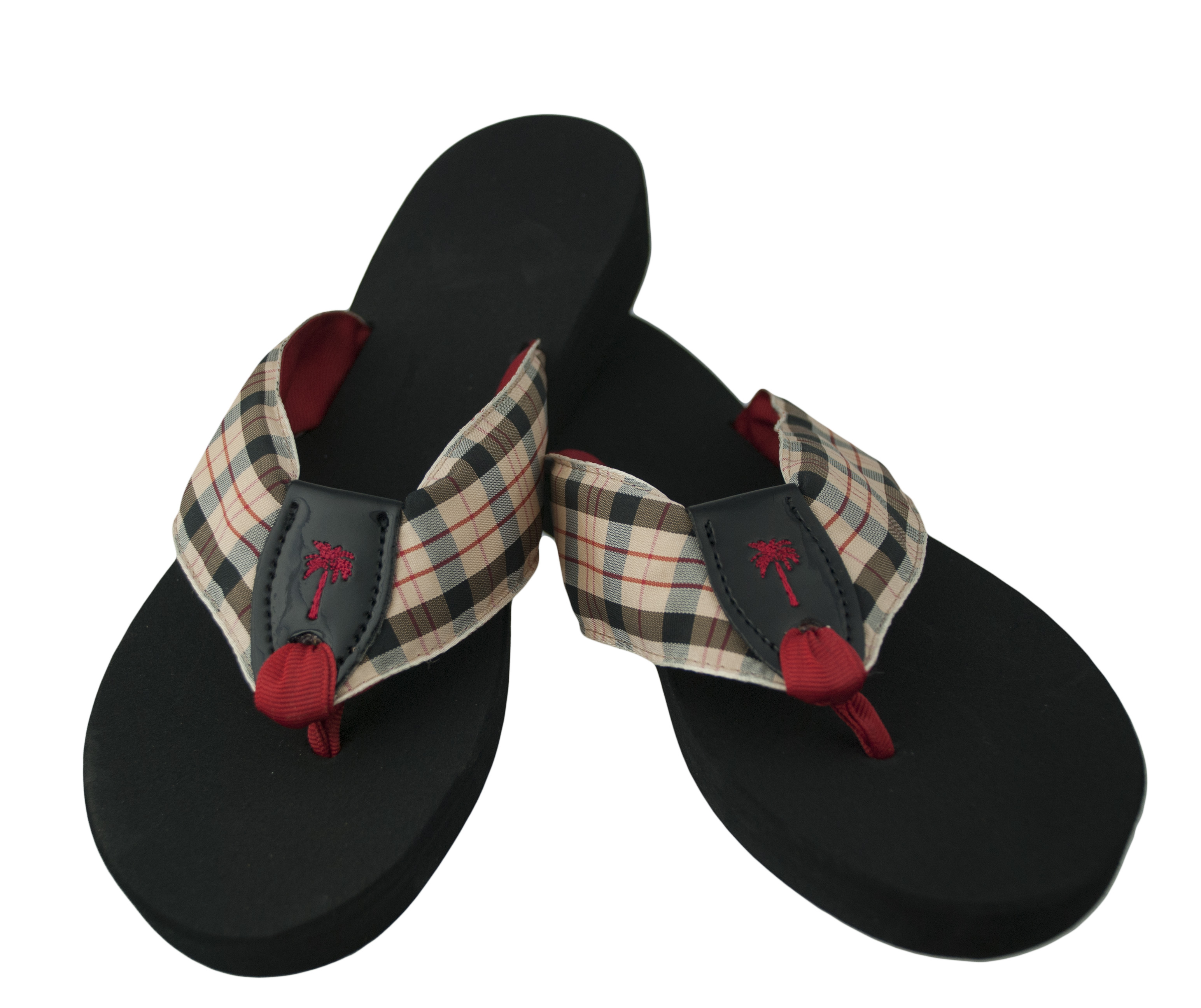 44f3b82af9130 Classic Plaid with Black Patent and Red Toe   Palm  Eliza B   Leather Man  Ltd